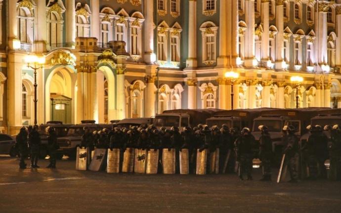 ОМОН на Дворцовой площади в Спб