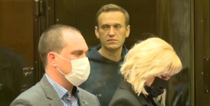 Алексей Навальный в Мосгосуде 2 февраля 2021 года