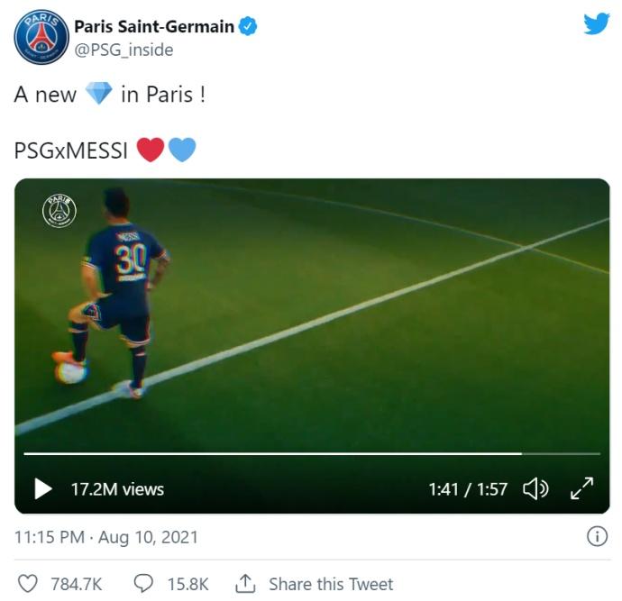 Месси будет играть в ПСЖ под номером 30